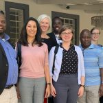 Left to Right: Dr. Innocent Mofolo ( UNC Project-Malawi - Country Director), Dr. Nandita Mani, Michelle Cawley, Wongani Jumbo (UNC Project Malawi Librarian), Dr. Maga Chagomerana (UNC Project-Malawi Director of Project Malawi analysis and manuscript unit), Rebecca Carlson, Dr. Debbie Kamwendo (UNC Project-Malawi Associate Country Director)