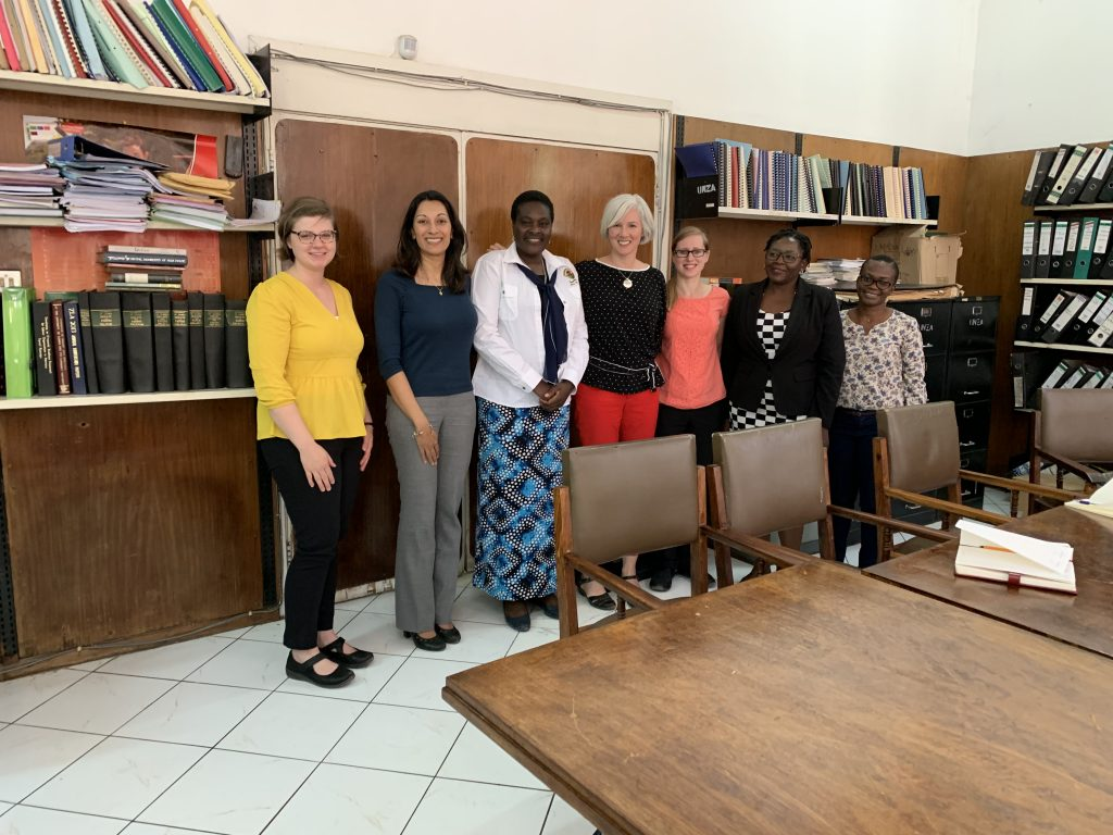 HSL team with University of Zambia Libraries
