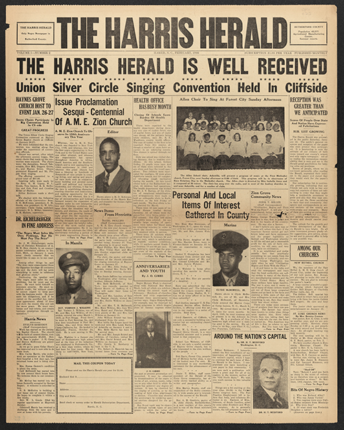 Harris Herald newspaper cover