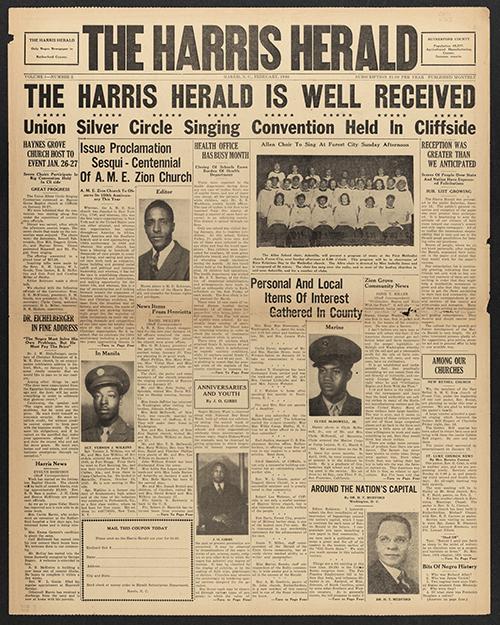 Harris Herald newspaper cover