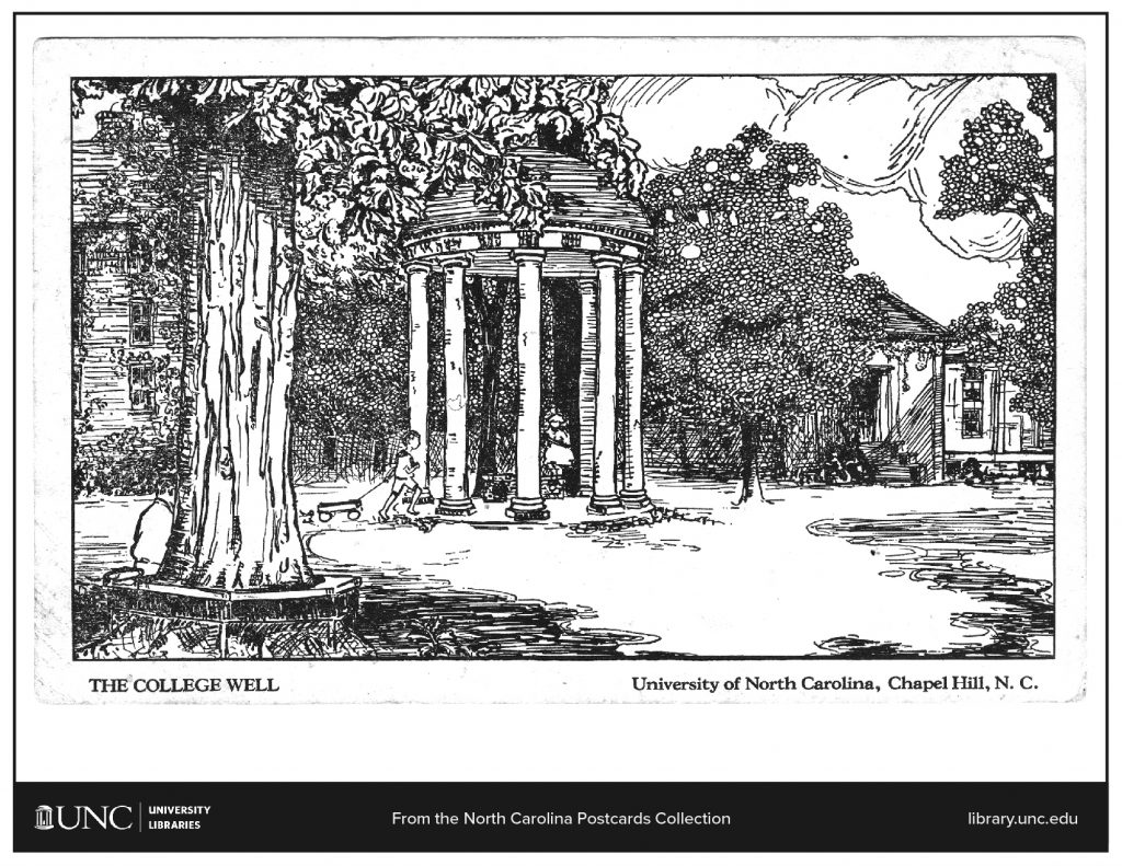 Coloring page of an illustration of the old well