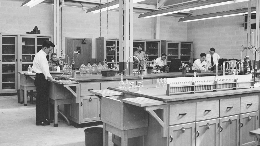 Chemistry Lab sheet film 1958