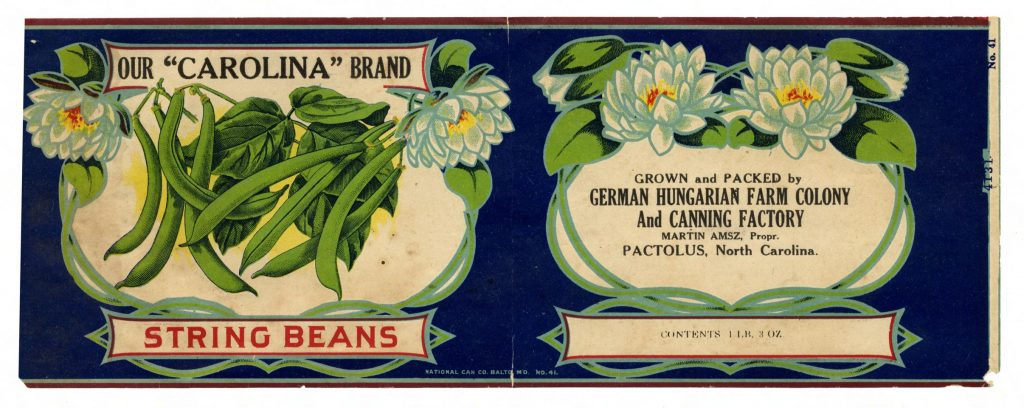 Powell Collection string bean label