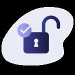 illustration of an unlocked lock