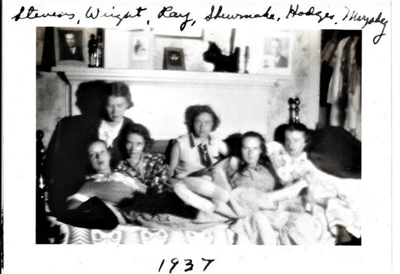 Archival image of women socializing in 1937