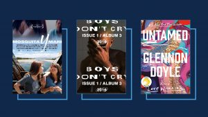 Posters of Mosquito y Mari, Boys Don't Cry, and Untamed