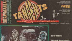 "Detail of the Charlotte tabloid ""Tangents"""
