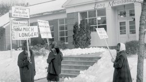 Civil Rights Demonstrators in Front of the Long Meadow Dairy Store February 1960