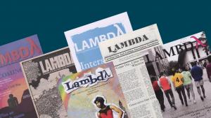 covers of Lambda magazine over the years