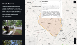 Screenshot of a Story Map in ArcGIS Online