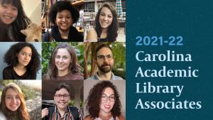 Photo collage of 2021-22 Carolina Academic Library Associates