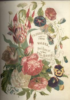 Cover of sheet music: Fleurs d'ete: Trois valses, pour le piano by Félicien David